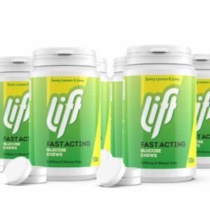 Druvsocker LIFT(Glucotabs), Citron Lime, Refill 6 pack